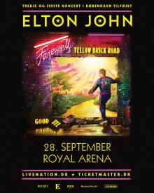 """Elton John: Tredje og sidste koncert i København tilføjet """"Farewell Yellow Brick Road Touren"""""""