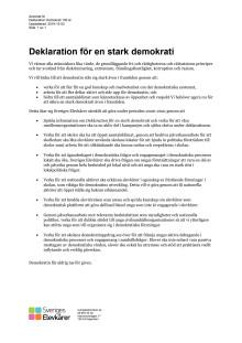 Deklaration för en stark demokrati
