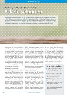 Pakete schnüren: Dienstleistung und Pflegepräparat kombiniert anbieten