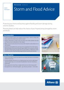 Allianz Storm and Flood Advice