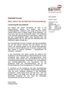 """Zehn """"Neue"""" für die Barnimer Kreisverwaltung"""