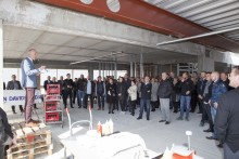 JYSK celebrates topping-out ceremony at head office