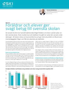 Svenskt Kvalitetsindex om skolan