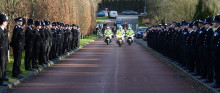 Hundreds of mourners pay their respects to PC Kevin Flint - Buckinghamshire