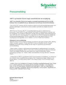 AREVA og Schneider Electric inngår samarbeidsavtale om energilagring