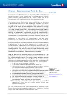 Makrorapport februar 2020: Corona - et WakeUp Call