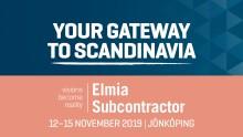 Pressinvitation to Elmia Subcontractor 12-15 nov 2019