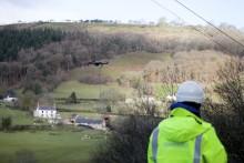 Drone helps lift rural Welsh valley village to ultrafast speeds