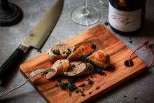 Falukorv på Kräggiska - i ädelt sällskap av champagne