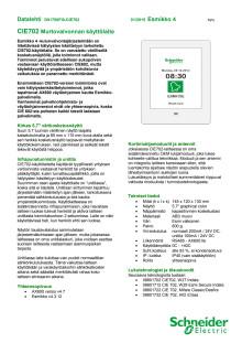 Datalehti: CIE702 -murtovalvonnan käyttölaite