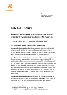 REMISSYTTRANDE