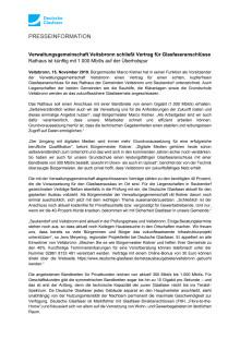 Verwaltungsgemeinschaft Veitsbronn schließt Vertrag für Glasfaseranschlüsse