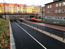 Hamngatan, Tullhusgatan och Löfbergsrondellen öppnar för trafik
