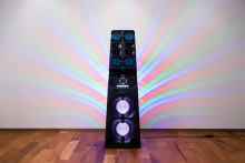 The tower of power!  Sony brings all new high power audio system to the mix