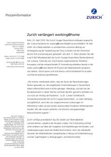 Zurich verlängert working@home