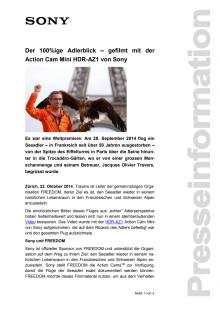 Der 100%ige Adlerblick – gefilmt mit der  Action Cam Mini HDR-AZ1 von Sony