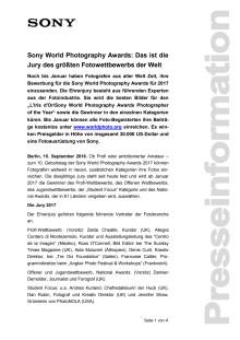 Sony World Photography Awards: Das ist die Jury des größten Fotowettbewerbs der Welt