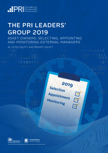 The PRI Leaders' Group 2019 Report