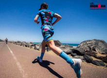 Power Woman special edition triathlon suit made for professional triathlete Åsa Lundström