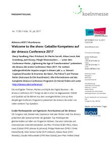 Welcome to the show: Geballte Kompetenz auf der dmexco Conference 2017