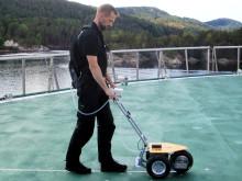 Nytt utstyr gir effektiv friksjonsmåling av helikopterdekk