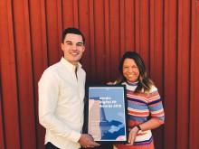 Wimab Evenemang fick ta emot pris av Mynewsdesk