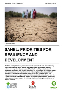 SAHEL: PRIORITIES FOR RESILIENCE AND DEVELOPMENT
