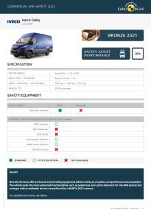 Euro NCAP Commercial Van Testing - Iveco Daily datasheet