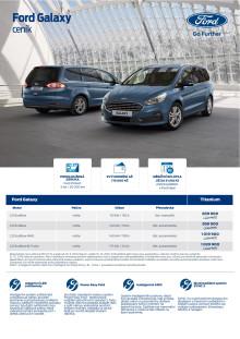 Ceník Ford Galaxy