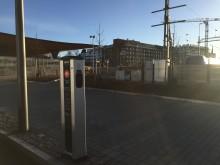 Lätt att ladda elbilen vid Helsingborgs tågstationer