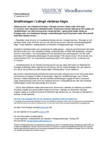 Värdebarometern 2017 Lidingös kommun