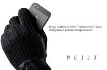 Mujjo Leather Crochet Touchscreen Gloves – Obegränsad pekskärmsupplevelse!