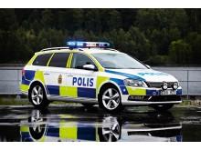 VW Passat som polisbil