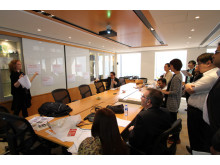 Lina holds court at a recent branding workshop in Hong Kong