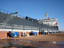 All secure: automated mooring units at Port Hedland, Western Australia #ports #mooring #automation #bulkhandling