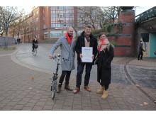 Malmöpolitiker tar emot diplom för årets cykelstad – enligt cyklisterna