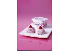 KESO® cottage cheese Hallon stödjer bröstcancerforskningen