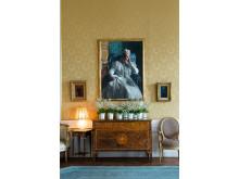 Detaljbild av Salongen i Sällskapsvåningen. Porträtt av prins Eugens mor, drottning Sophia av Anders Zorn (1909)