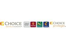 New Choice Hotels Europe Logo. Extreme Horizontal