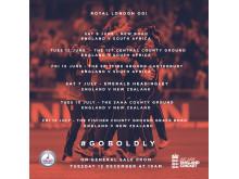 Royal London ODI 2018 fixtures