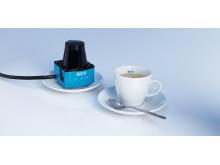 Laserscannern TiM360 - liten som en kaffekopp