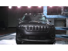 Jeep Cherokee pole crash test October 2019
