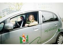 Karolina Skog och Stefan Bengtsson deltar Oresund Electric Car Rally 2012 (bild 2)