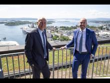 Adm.dir. Kjell Rusti Sopra Steria og Norgessjef Thomas L. Kraft i HPE