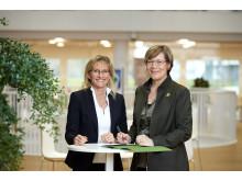 Helene Egebøl (tv) og Lone Feifer