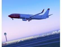 Boeing 737-800 efter take-off