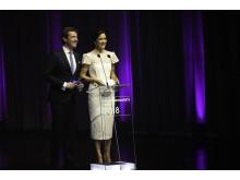 D.K.H. Kronprins Frederik og Kronprinsesse Mary ved Kronprinsparrets Priser 2018 i Musikkens Hus i Aalborg