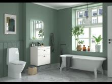 Ifö Rimfree, toalett utan spolkant