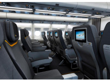Komforten øges markant på flyvningerne til Kap Verde, når Thomas Cook Airlines indsætter langdistanceflyet A330-300 fra København. Her får de ca. 400 passagerer deres egen underholdningsskærm i ryglænet.