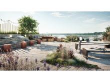 The Gardens, Ulriksdal, takterrass